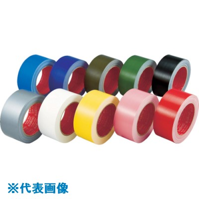 ■スリオン カラー布粘着テープ25MM幅 グリーン 60巻入 〔品番:339000-GR-00-25X25〕[TR-1366292×60]