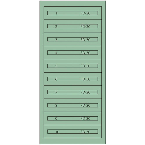 ■ヴィドマー  ファインキャビネットFC-300K(塗装色:グリーン)  〔品番:FC-300K〕[TR-1367295]【大型・重量物・個人宅配送不可】