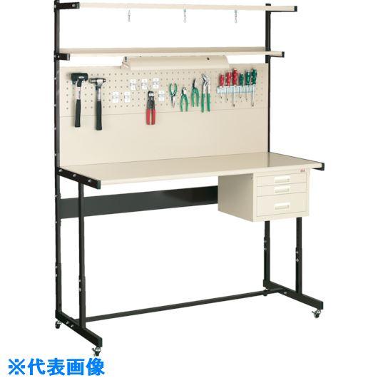 ■OS ラインテーブル移動式高さ調整式P型  〔品番:LTH122PC〕[TR-1367309]【大型・重量物・個人宅配送不可】