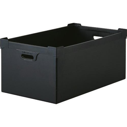 ■TRUSCO 導電性ダンボールプラスチック 45L ブラック  〔品番:DP-560D-5N〕[TR-1372201]
