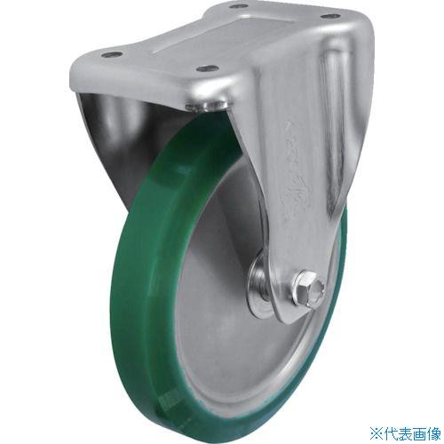 ■シシク スタンダードプレスキャスター ウレタン車輪 固定 250径〔品番:UWK-250〕[TR-1373013]