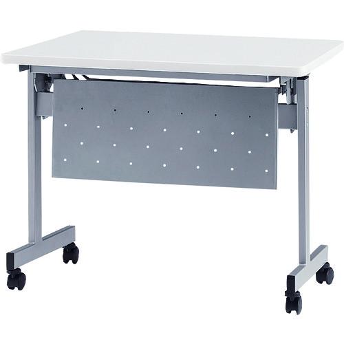 ■TOKIO 天板跳上式スタックテーブル(パネル付) 天板色:ホワイト  〔品番:HSN-1260P-W〕[TR-1373404]【大型・重量物・個人宅配送不可】