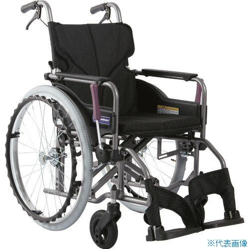 ■カワムラ アルミ製標準型自走用車いすKMD-A22-42-M黒〔品番:KMDA2242MNO19〕[TR-1373436 ]【送料別途お見積り】