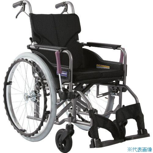 ■カワムラ アルミ製標準型自走用車いすKMD-A22-42-M黒メッシュ〔品番:KMDA2242MNO68〕[TR-1373442 ][送料別途見積り][法人・事業所限定][外直送]