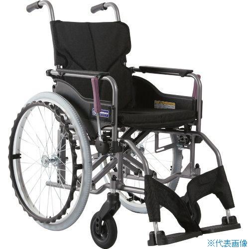 ■カワムラ アルミ製標準型自走用車いすKMD-A22-42S-M黒〔品番:KMDA2242SMNO19〕[TR-1373467 ]【送料別途お見積り】