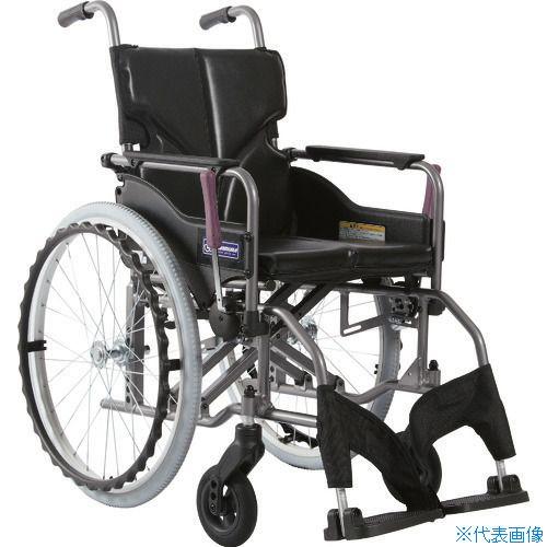 ■カワムラ アルミ製標準型自走用車いすKMD-A22-40S-Mエコブラック〔品番:KMDA2240SMNO88〕[TR-1373469 ]【送料別途お見積り】