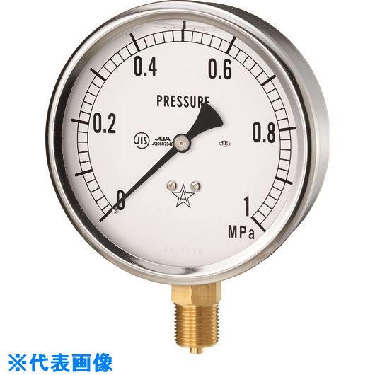 ■右下 グリセリン入圧力計 圧力レンジ0~10MPA 接続部サイズG3/8B  〔品番:GLT-41-10MPA〕外直送[TR-1373512]