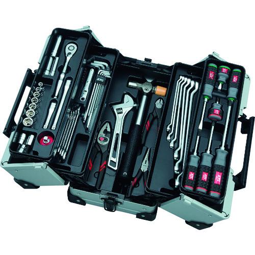 ■KTC 9.5SQ.両開きメタルケース採用 工具セット  〔品番:SK3561WZ〕メーカー取寄[TR-1373614]