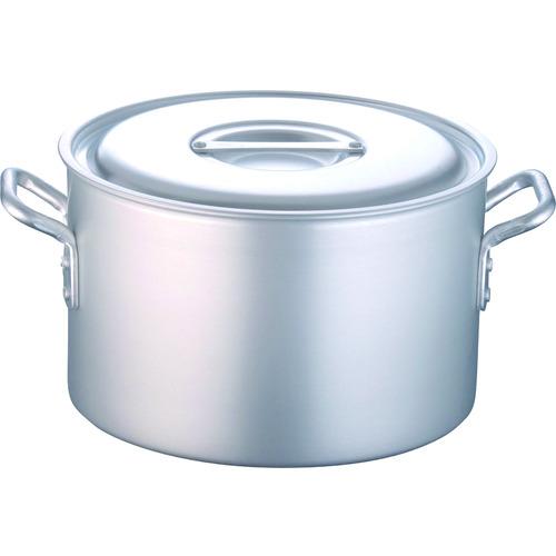■TKG 半寸胴鍋 アルミニウム(アルマイト加工) (蓋付)TKG 54CM  〔品番:AHV6254〕メーカー取寄[TR-1386691]