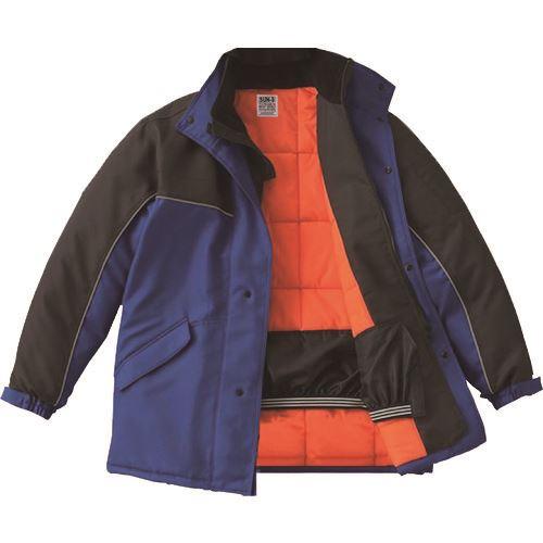 ■サンエス 冷凍倉庫用防寒コート ブルー色 Lサイズ〔品番:BO8001-4-L〕[TR-1388706 ]【送料別途お見積り】