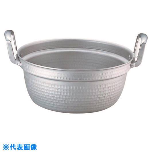 ■TKG アルミ円付鍋(アルマイト加工) 42cm〔品番:AEV1707〕[TR-1389728]