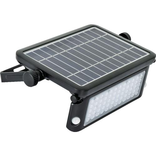 ■日動 ソーラーLEDセンサーライト エコフラッシュ10W〔品番:SOL-10PIR-60K〕[TR-1392435]