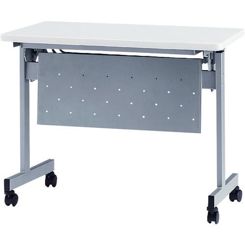 ■TOKIO 天板跳上式スタックテーブル(パネル付) 天板色:ホワイト  〔品番:HSN-1245P-W〕[TR-1395512]【大型・重量物・個人宅配送不可】