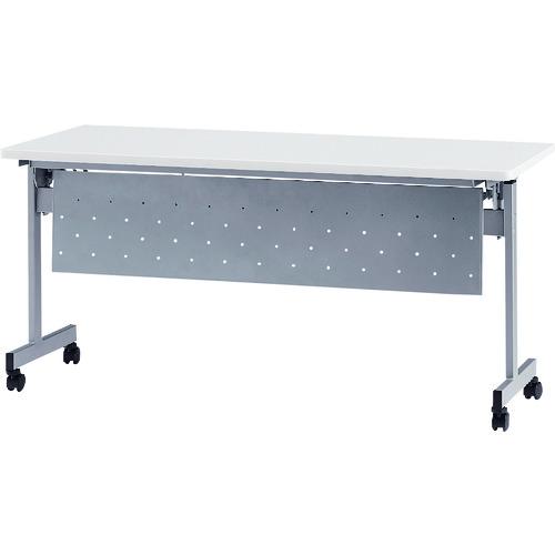 ■TOKIO 天板跳上式スタックテーブル(パネル付) 天板色:ホワイト  〔品番:HSN-1560P-W〕[TR-1395531]【大型・重量物・個人宅配送不可】
