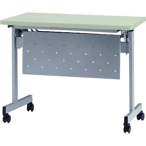 ■TOKIO 天板跳上式スタックテーブル(パネル付) 天板色:ニューグレー  〔品番:HSN-1245P-NG〕[TR-1395535]【大型・重量物・個人宅配送不可】