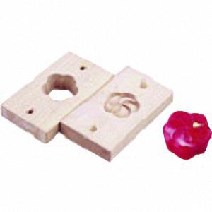 ■TKG 手彫物相型(上生菓子用) ねじ梅 〔品番:WBT12〕[TR-1396030]