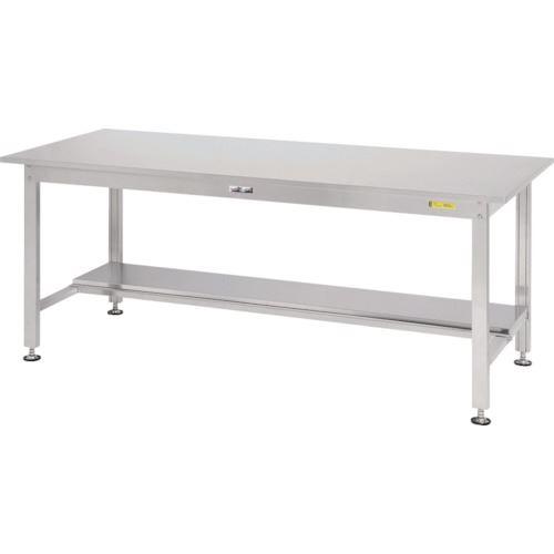 ■ヤマテック ステンレスワークテーブル 半面棚板付  〔品番:SS3-960T〕[TR-1398967]【大型・重量物・個人宅配送不可】