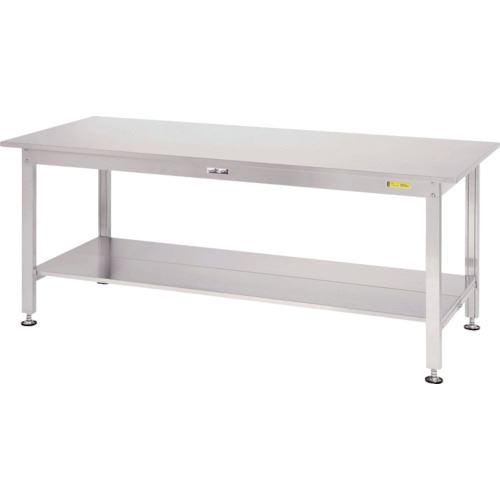 ■ヤマテック ステンレスワークテーブル 全面棚板付  〔品番:SS3-1575TT〕[TR-1398994]【大型・重量物・個人宅配送不可】