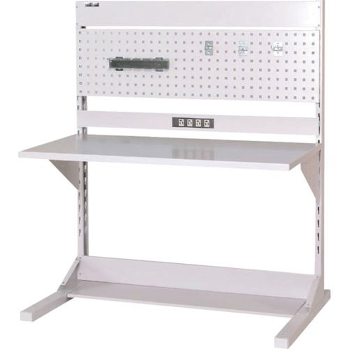 ■ヤマテック ラインテーブル 片面連結W1200  〔品番:HRK-1213R-PC〕[TR-1399254]【大型・重量物・個人宅配送不可】