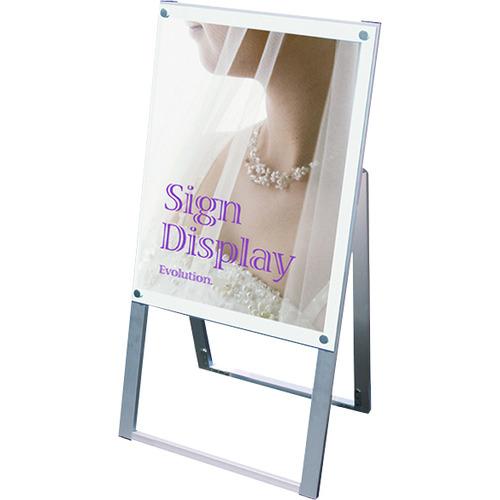 ■TOKISEI ポスター用スタンド看板 A2片面ホワイト〔品番:PSSKA2KW〕[TR-1429145 ]【送料別途お見積り】