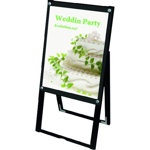 ■TOKISEI ブラックポスター用スタンド看板 A2片面ブラック  〔品番:BPSSKA2KB〕[TR-1429155]【大型・重量物・送料別途お見積り】
