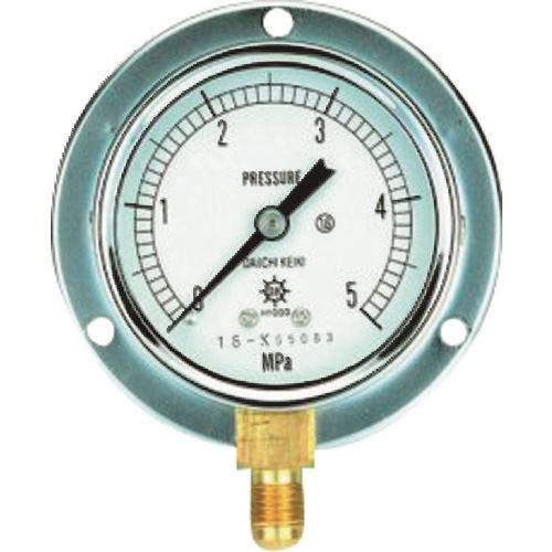 ■タスコ 圧力計(1/4″フレア、下出し、60Φ、つば付)《2個入》〔品番:TA148F-150〕直送[TR-1432247×2]