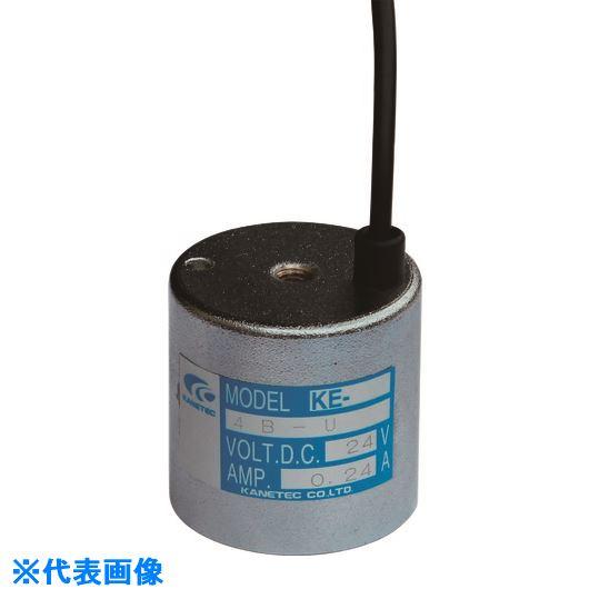 ■カネテック 電磁ホルダ 径80MM×高さ60MM〔品番:KE-8B-U〕[TR-1435668]【個人宅配送不可】