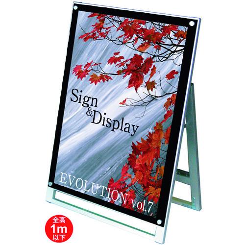 ■TOKISEI ポスター用スタンド看板 A1ロウ片面ブラック〔品番:PSSKA1LKB〕[TR-1438726 ]【送料別途お見積り】
