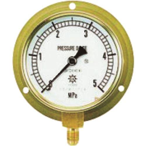 ■タスコ 圧力計(1/4″フレア、下出し、75Φ、つば付)《2個入》〔品番:TA148F-235〕直送[TR-1452723×2]