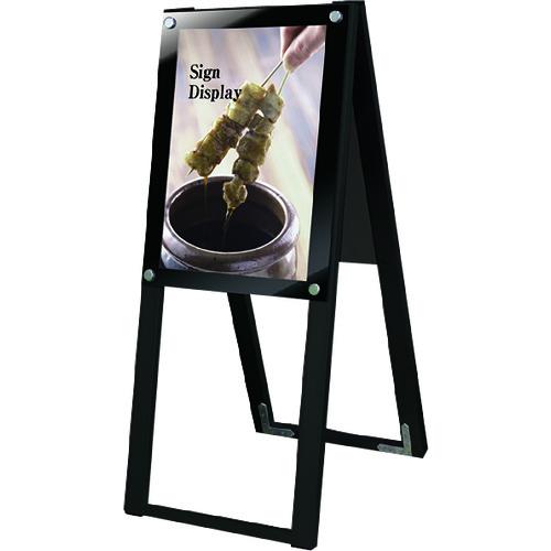 ■TOKISEI ブラックポスター用スタンド看板 A3縦ハイ両面ブラック  〔品番:BPSSKA3THRB〕[TR-1452924]【送料別途お見積り】
