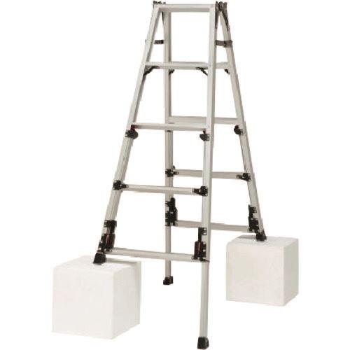 ■タスコ 四脚アジャスト式はしご兼用脚立〔品番:TA840SN-3〕[TR-1455656]【個人宅配送不可】