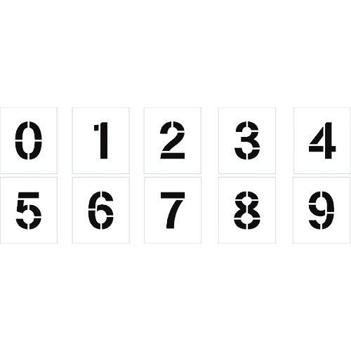 ■グリーンクロス 吹付けプレート文字高300 数字0~9セット  〔品番:1118203099〕[TR-1456167]