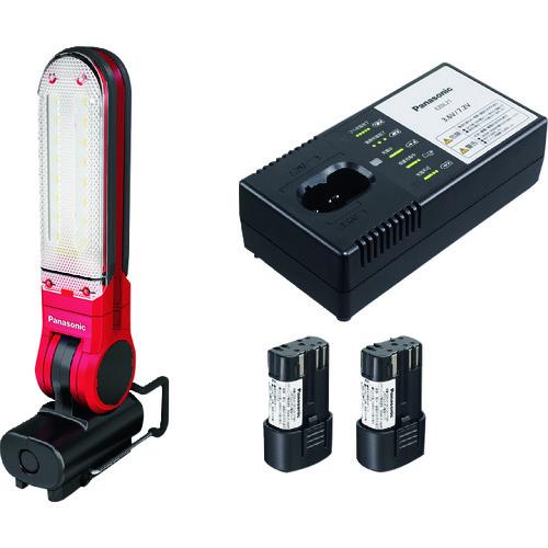■PANASONIC 工事用 充電LEDマルチ投光器 セット品  〔品番:EZ3720LA2S-R〕[TR-1456921]