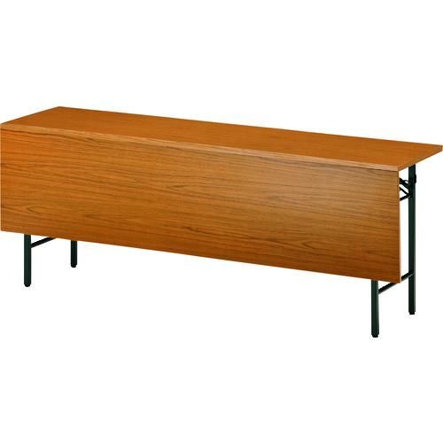 ■TOKIO 折りたたみテーブル 棚付パネル付 1500×450mm チーク〔品番:T-1545P〕[TR-1461355 ]【送料別途お見積り】