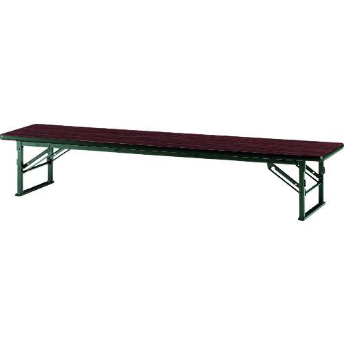■TOKIO 折りたたみ座卓テーブル 1500×750mm ローズ〔品番:TES-1575〕[TR-1462933 ]【送料別途お見積り】