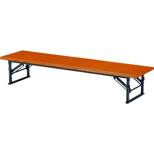 ■TOKIO 折りたたみ座卓テーブル 1200×600mm チーク〔品番:TE-1260〕[TR-1462934 ]【個人宅配送不可】