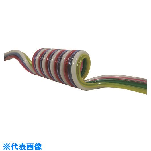 ■チヨダ 耐水性マルチスパイラル 12mm/使用範囲1413mm〔品番:6-MES-12-10S〕[TR-1463705]