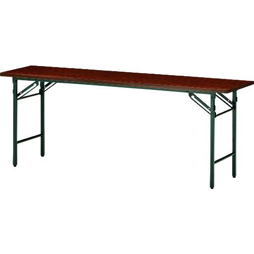 ■TOKIO 折りたたみテーブル 1500×450mm ローズ〔品番:T-1545N〕[TR-1464520 ]【送料別途お見積り】