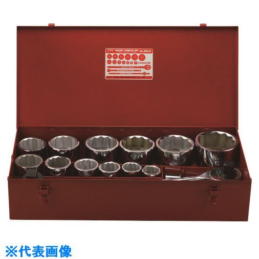 ランキング第1位 〔品番:S-8312ISO〕[TR-1465373]【大型・重量物・個人宅配送】:ファーストFACTORY   ?FPC ソケットレンチセット 差込角25.4MM 12角 16PC-DIY・工具