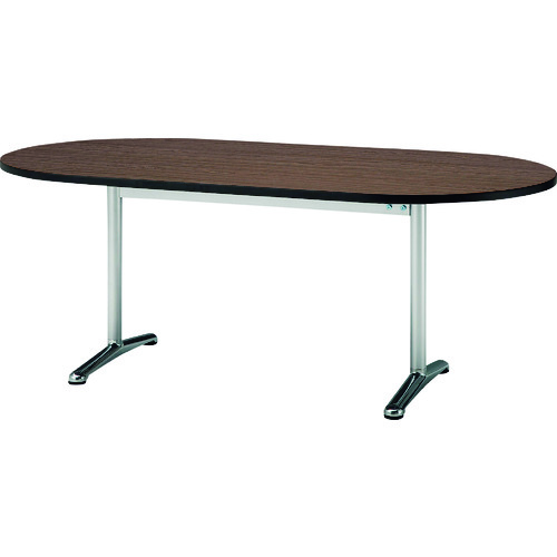 ■TOKIO ミーティングテーブル 楕円型 1800X750 ローズ〔品番:ATT-1875RS〕[TR-1466073 ]【送料別途お見積り】