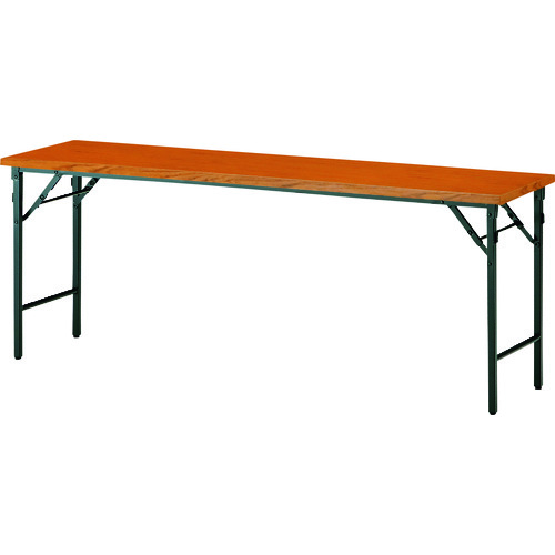 ■TOKIO 折りたたみテーブル 1800×450mm チーク〔品番:TWS-1845TN〕[TR-1466087 ]【送料別途お見積り】