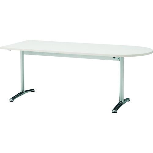 ■TOKIO ミーティングテーブル 半楕円型 1800X750 ホワイト〔品番:ATT-1875US〕[TR-1467656 ]【送料別途お見積り】