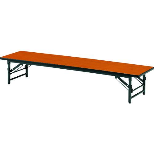 ■TOKIO 折りたたみ座卓テーブル 1200×750mm チーク〔品番:TZS-1275〕[TR-1467691 ]【送料別途お見積り】