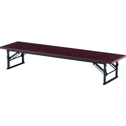 ■TOKIO 折りたたみ座卓テーブル 1500×750mm ローズ〔品番:TE-1575〕[TR-1467751 ]【送料別途お見積り】