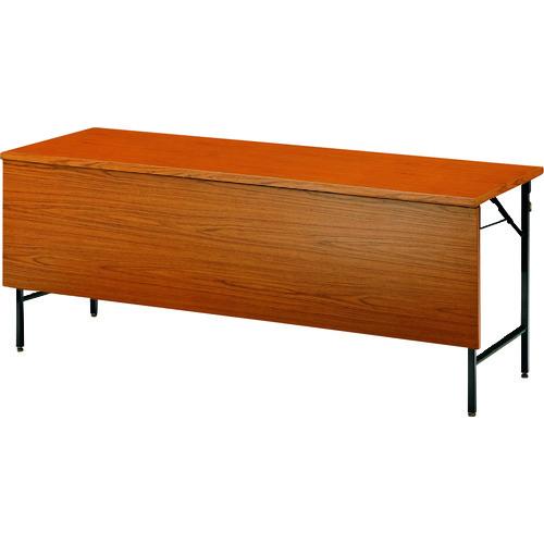■TOKIO 折りたたみテーブル パネル付 1800×450mm チーク〔品番:TW-1845PTN〕[TR-1469302 ]【送料別途お見積り】