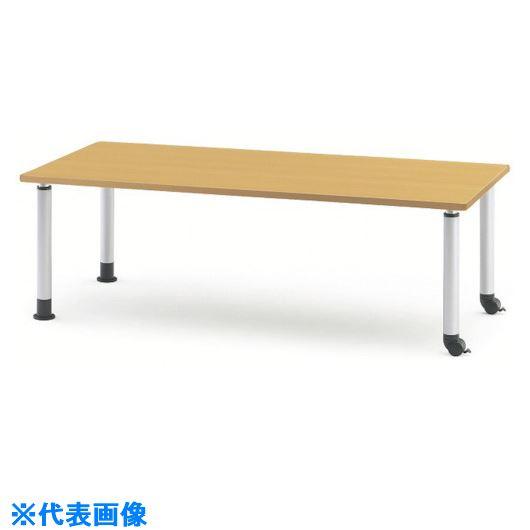 ■TOKIO ダイニングテーブル キャスタータイプ 1200X750 メープル〔品番:MKT-1275C〕[TR-1470823 ]【送料別途お見積り】