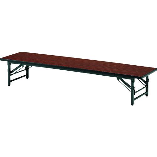■TOKIO 折りたたみ座卓テーブル 1500×600mm ローズ〔品番:TZS-1560〕[TR-1470835 ]【送料別途お見積り】