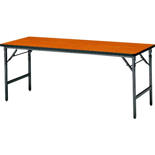 ■TOKIO 折りたたみテーブル 1800×450mm チーク〔品番:ATS-1845N〕[TR-1470896 ]【送料別途お見積り】