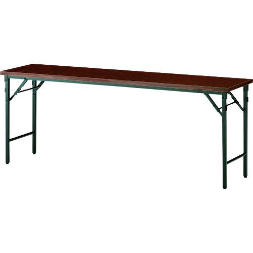 ■TOKIO 折りたたみテーブル 1800×450mm ローズ〔品番:TW-1845TN〕[TR-1472461 ]【個人宅配送不可】