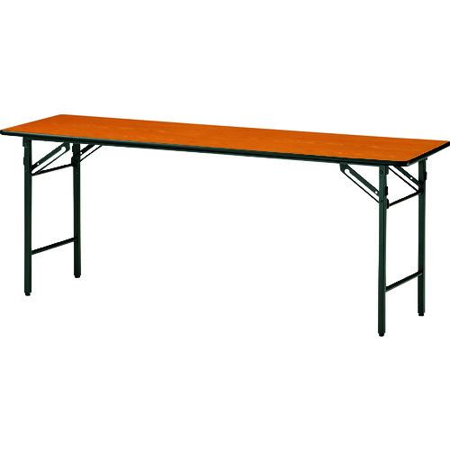 ■TOKIO 折りたたみ会議テーブル 1500×750mm チーク〔品番:TS-1575N〕[TR-1474076 ]【送料別途お見積り】
